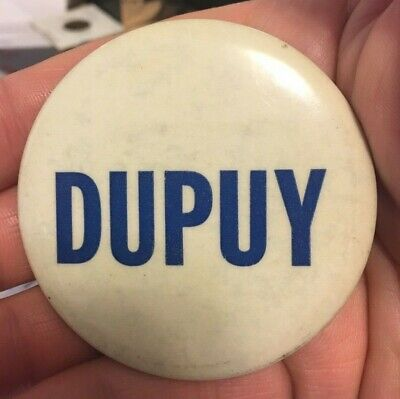 "1962 -1969 Clarence Dupuy City Council C New Orleans LA  Cello 2 1/2"" Button Pin"