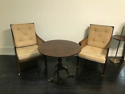 Antique Bergère Chairs with Suede cushions