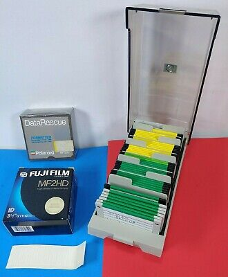 """Lot of over 50 3.5"""" Floppy Disks with storage Case Box Sealed/New/Blank+Backup"""