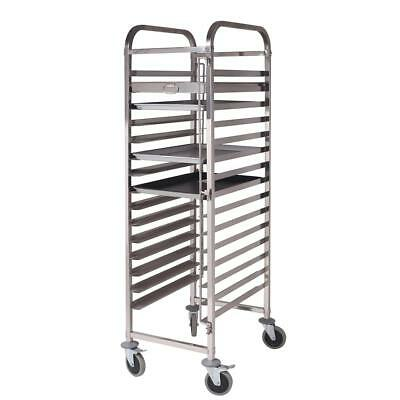 SOGA 16 Tier Stainless Steel Gastronorm Trolley Bakery Cake Suit 60*40cm Tray