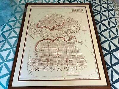 Framed plan of the City of Adelaide (drawn by Colonel Light)