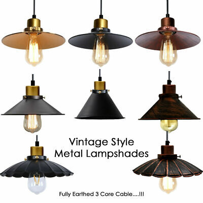 Retro Pendant Lighting Iron Ceiling Light Shade Vintage Industrial Modern Loft