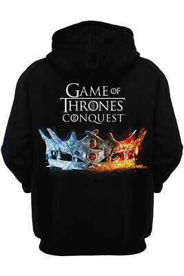 Popular Game of Thrones Conquest Crown Design Pocket Leisure Long Sleeve Hoodies