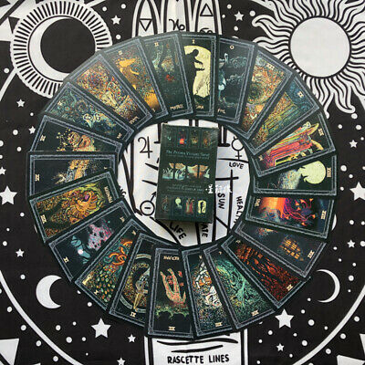 78 PCS Board Game Full English Prisma Vision Tarot Deck New W/ Tarot Cloth