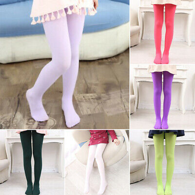 Kids Girls Soild Color Ballet Dance Tights Pantyhose Hosiery Stretchy Stockings