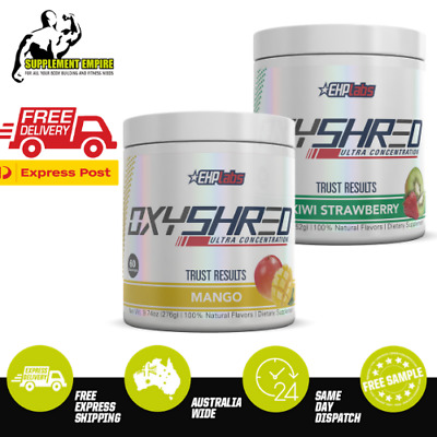 2 X EHP Labs OxyShred Twin Pack Thermogenic Fat Burner Pre workout 60 serves