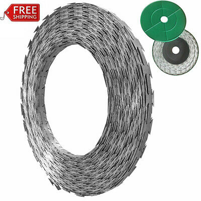 197/328/492ft NATO Razor Barbed Wire Helical Wire Galvanized Steel Fencing Roll