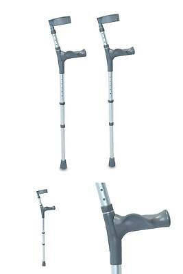 Double Adjustable Crutches With Comfy Handle Regular Height Pair Eligible For VA
