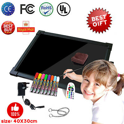 Sensory LED Message Drawing Writing Board Kids Children Toys Autism ADHD + Pens