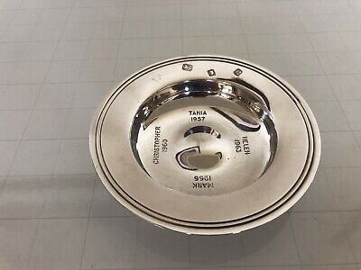 London 1965 Solid Silver Harrods Of London Dish Engraved With Four Names