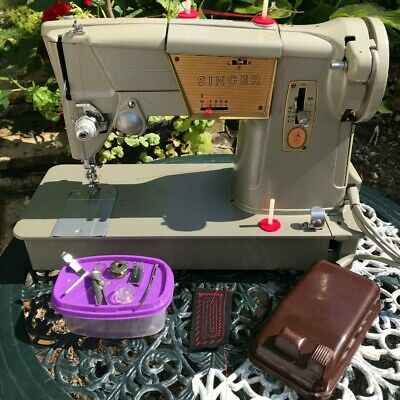 SINGER 328K Electric Cams Sewing Machine SERVICED & DEEP CLEANED, IMMACULATE