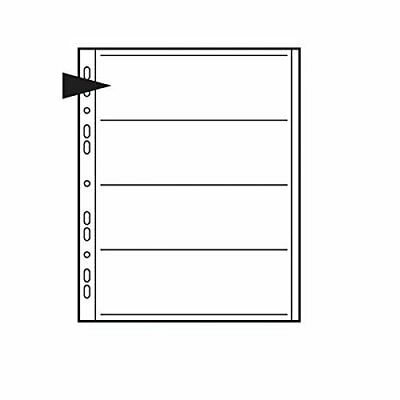 Kenro Negative Pages for Ringbinder for 4 Strips of 120 Roll Film - Pack of 100