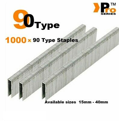 1000 x 90 Type Staples - Narrow crown