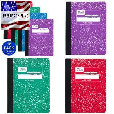 MEAD COMPOSITION BOOKS, Notebooks, Wide Ruled Paper, 100