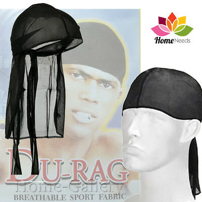 Men's Breathable Durag Bandana Close Fit Tie Sport Mesh Durag Head Scarf Wrap