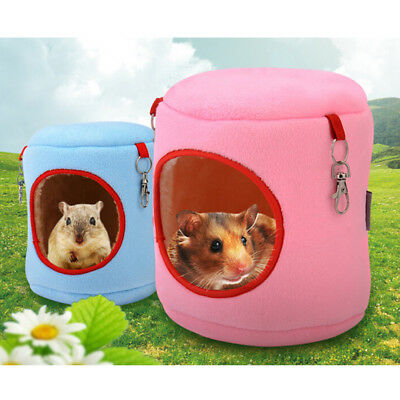 warm bed rat hammock squirrel winter toys pet hamster cage house hanging nest-n