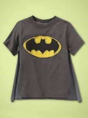 NWT Baby GAP Junk Food Winged Superhero Batman Cape Tee Shirt T-Shirt Boys 2T