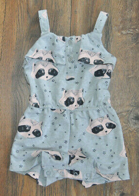 NEXT Baby Girls Grey Romper Shorts Outfit 9-12 Months Summer Holiday