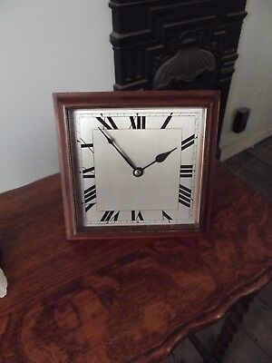 vintage 8 day table clock good condition.
