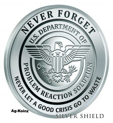 "#11 in /""Never Forget/"" Series 1 oz Rev Proof 2017 Silver Shield PENTAGON CCTV"