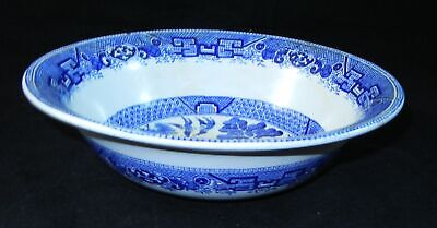 "Antique Ridgway Large Blue Willow 9.5"" Serving Bowl"