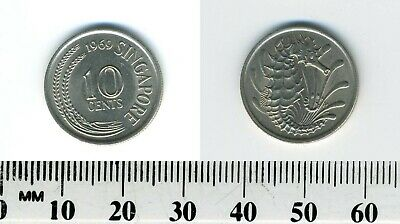 Singapore 1969 - 10 Cents Copper-Nickel Coin - Stylized Spotted Seahorse