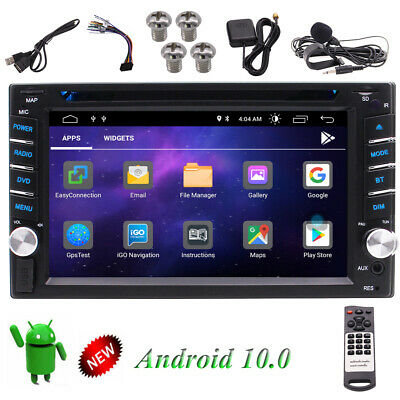 """Android Double 2-DIN 6.2"""" Touchscreen Car Stereo DVD CD GPS Navigation Receiver"""
