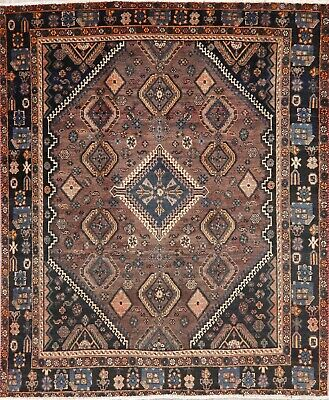 Antique Balouch Afghan Area Rug Wool Hand-Knotted Oriental Geometric 5x7 Carpet