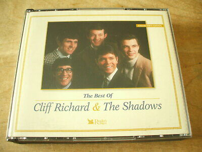 BEST OF CLIFF RICHARD & THE SHADOWS 5xCD READERS DIGEST SET - 100 TRACKS