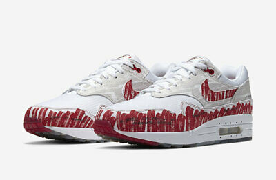 2019 Nike Air Max 1 Sketch To Shelf SZ 10 White Uni Red Tinker OG CJ4286-101