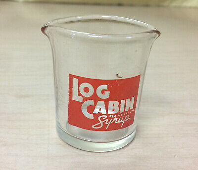 Log Cabin Syrup Glass Pitcher