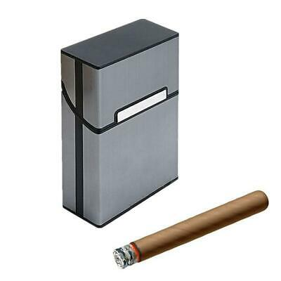 Mens Aluminum Metal Cigar Cigarette Box Holder Pocket Tobacco Storage Case Black