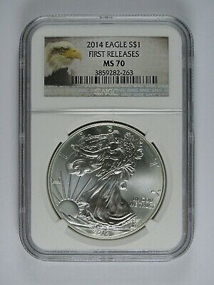 2014 American Silver Eagle - NGC MS70 - First Releases - Eagle Label