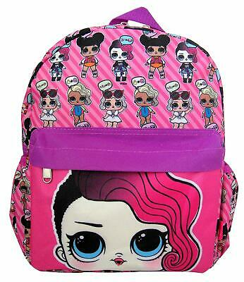 New LOL Surprise~Rocker 12'' Small Pink All-Over Print Girls' School Backpack