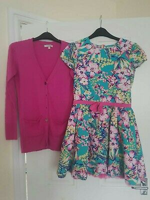 Girls outfit Marks And Spencer cardigan and Cherokee dress 11-12 Years