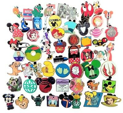 Disney Pin Trading Lot of 90 Assorted Pins - Brand NEW - No Doubles - Tradable