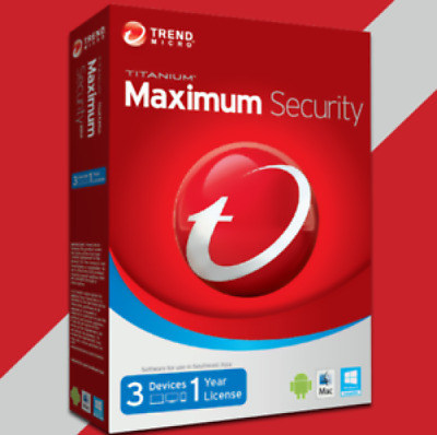 All in One Trend Micro Maximum Security 2019 - 2020 - 1 Year 3 Devices