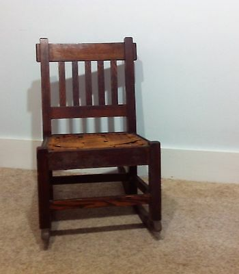 Antique Arts & Crafts Mission Vintage Sewing Rocker Rocking Chair