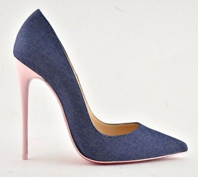 14c19221267 NEW! CHRISTIAN LOUBOUTIN So Kate 120 BLUE EGYPTIAN Suede Heels Pump ...