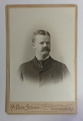 Very Nice Backstamp, Providence, RI - Antique Photo (Cabinet Card)