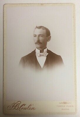Handsome, Well-groomed Man ...by Conlin, Boston, MA - Antique Photo Cabinet Card