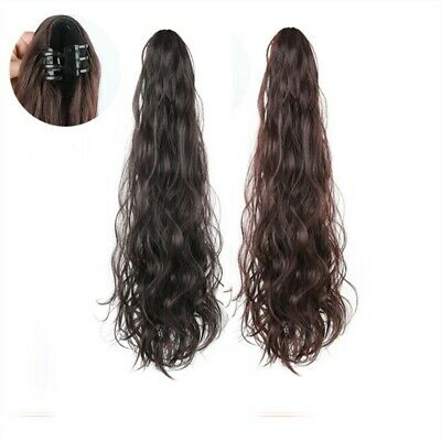 Hot Sexy Women Long Curly Hair Wigs Wavy Long Topper Toupee Bangs Clip Ponytail