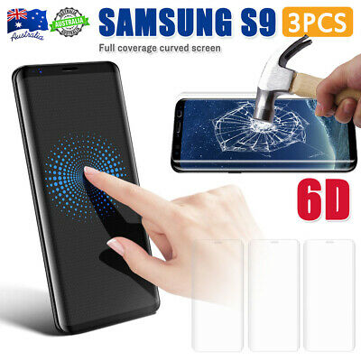 Clear Samsung Galaxy S8 S9 S10 Tempered Glass Full Cover Screen Protector OZ