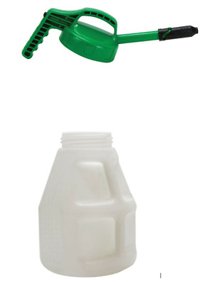 Oil Safe Container, 10L Lubricant Drum With Green Stretch Pourer Spout