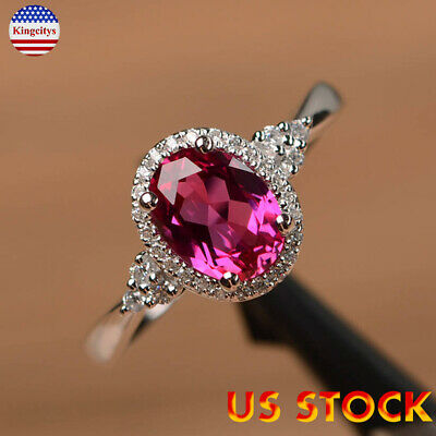 Fashion Silver Women Crystal Zircon Cute Wedding Engagement Ring Jewelry Gift