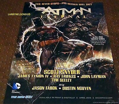 Batman Eternal Poster Dc Comics 22X34 Catwoman Jim Gordon Joker Gotham Synder