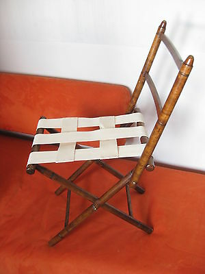 antique vintage  folding hand turned Chair