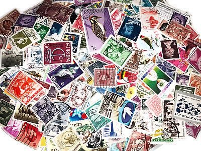 100+ Random Worldwide Stamps From Collection - No US Stamps - Off Paper Used