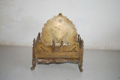 1800's Antique Very Old Brass Beautiful Hindu God Throne Collectible.
