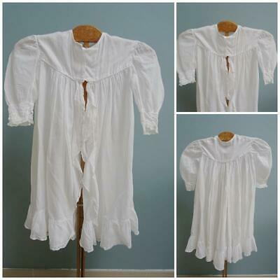 Antique Girls Jacket Edwardian Floral Lace Embroidered Leg of Mutton Sleeves